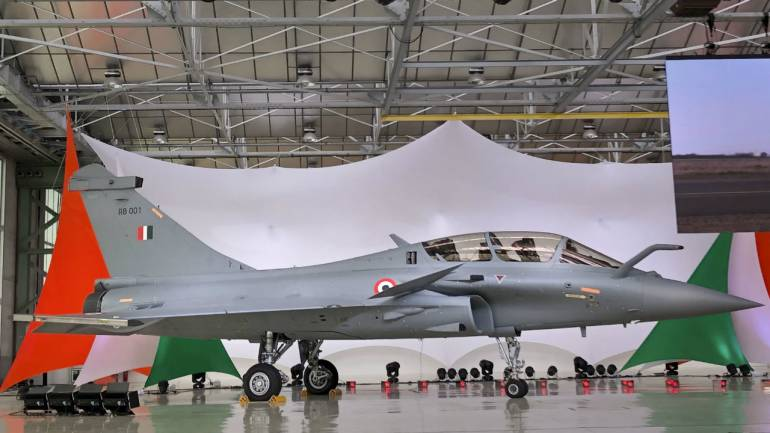 IAF's first Rafale fighter jet (Image: PTI)