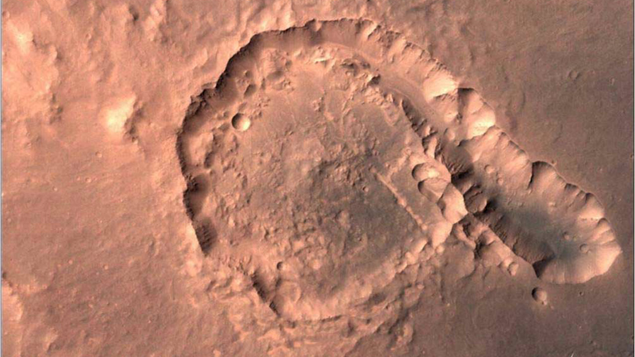 A picture of Pital crater, located in the Ophir Planum region of Mars (Image source: ISRO website)
