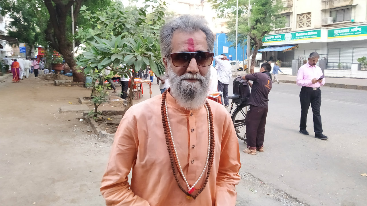 A Bal Thackeray lookalike at the rally.
