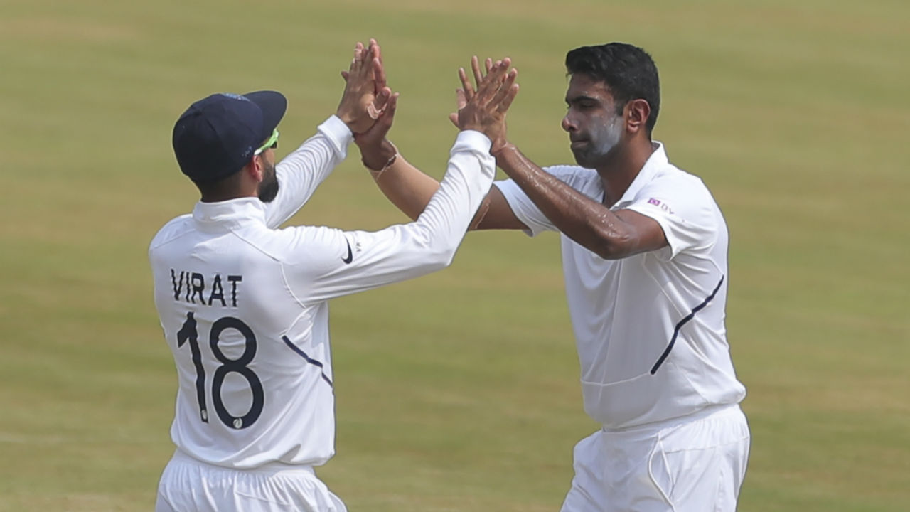 Kagiso Rabada walked out to bat at no. 11 and provided some stiff resistance to the Indian bowling attack. Together with Muthusamy the last-wicket pair added 35 runs before Ashwin trapped Rabada LBW in the 132nd over to claim his 7th wicket. Rabada finished with 15 off 17 balls with South Africa 431/10 just 71 runs behind India's 1st innings total. (Image: AP)