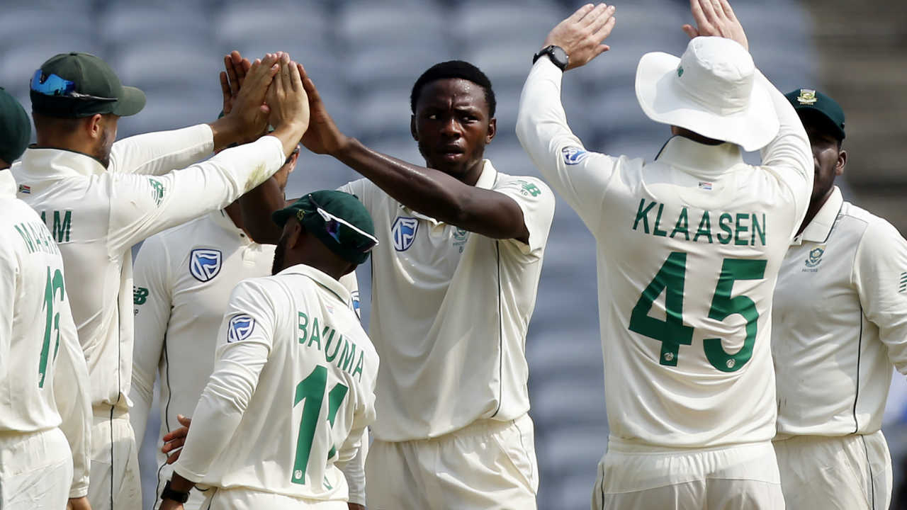 Rohit, however, could not replicate the success of Vizag Test as Kagiso Rabada forced an edge from Rohit's bat which was pouched by Quinto de Kock behind the wickets. Rohit made 14 as India were 25/1. (Image: AP)