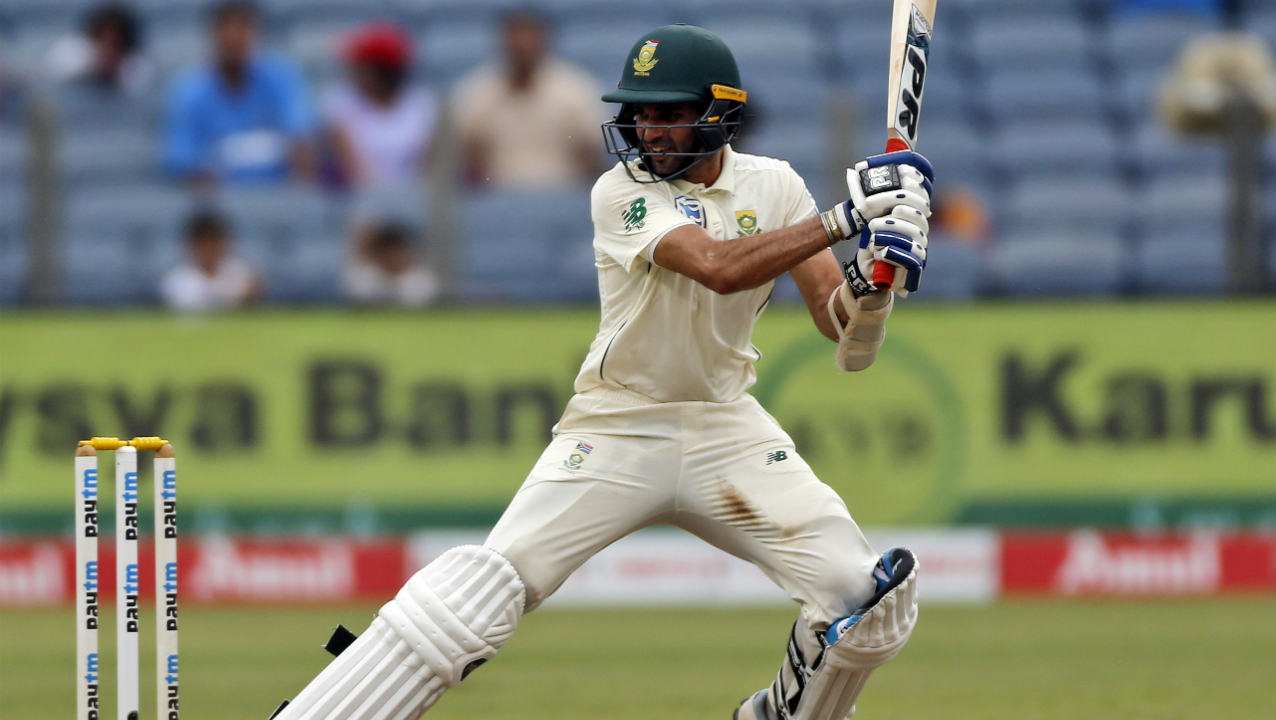 South African spinner Maharaj brought up his maiden Test fifty in the 91st over as India continued to struggle to break the partnership. Maharaj's half-century came off 96 balls. (Image: AP)