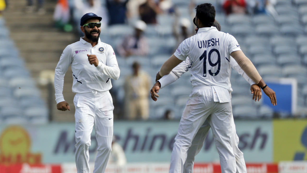 De Bruyn offered some resistance but was ultimately undone by Umesh Yadav who picked up his 3rd wicket of the match on his return to the Test team. De Bruyn who scored 30 off 58 balls went for a loose shot outside off and edged the ball with Wriddhiman Saha taking a good sharp catch. South Africa were reduced to 53/5 at the fall of de Bruyn's wicket. (Image: AP)