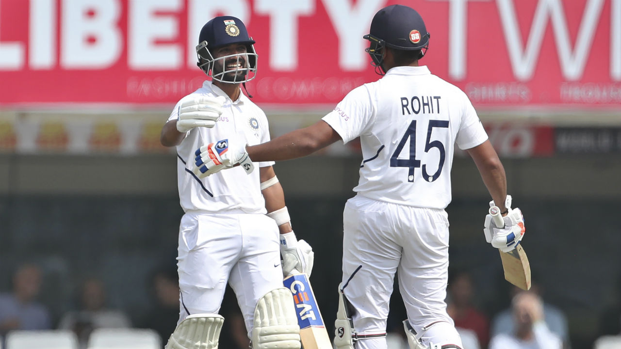 Rahane completed his 11th Test hundred in the 69th over with a single against Anrich Nortje. It was Rahane's first Test century at home since 2016 and it came off 169 balls. The hundred was also the 7th individual century for India in the series, making it the most for India in a single series against South Africa. (Image: AP)