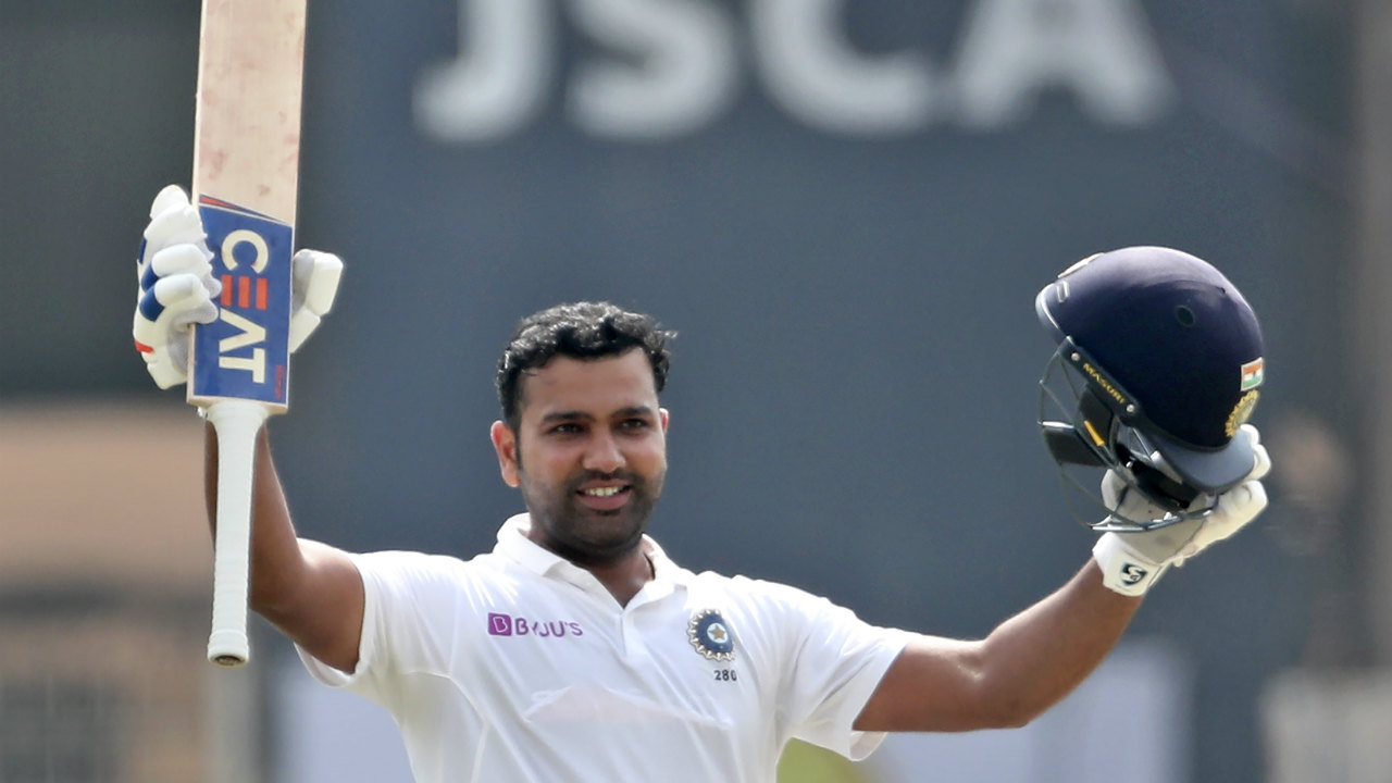 Rohit brought up his maiden Test double century with a six against Ngidi in the 88th over. The Mumbai batsman who has 3 double hundreds to his name in ODI cricket took just 249 balls to get to the landmark. He couldn't carry on for longer though as he mistimed a pull shot against Rabada in the 89th over to the fielder at fine leg. Rohit returned with 212 runs with India well-placed at 370/5. (Image: AP)
