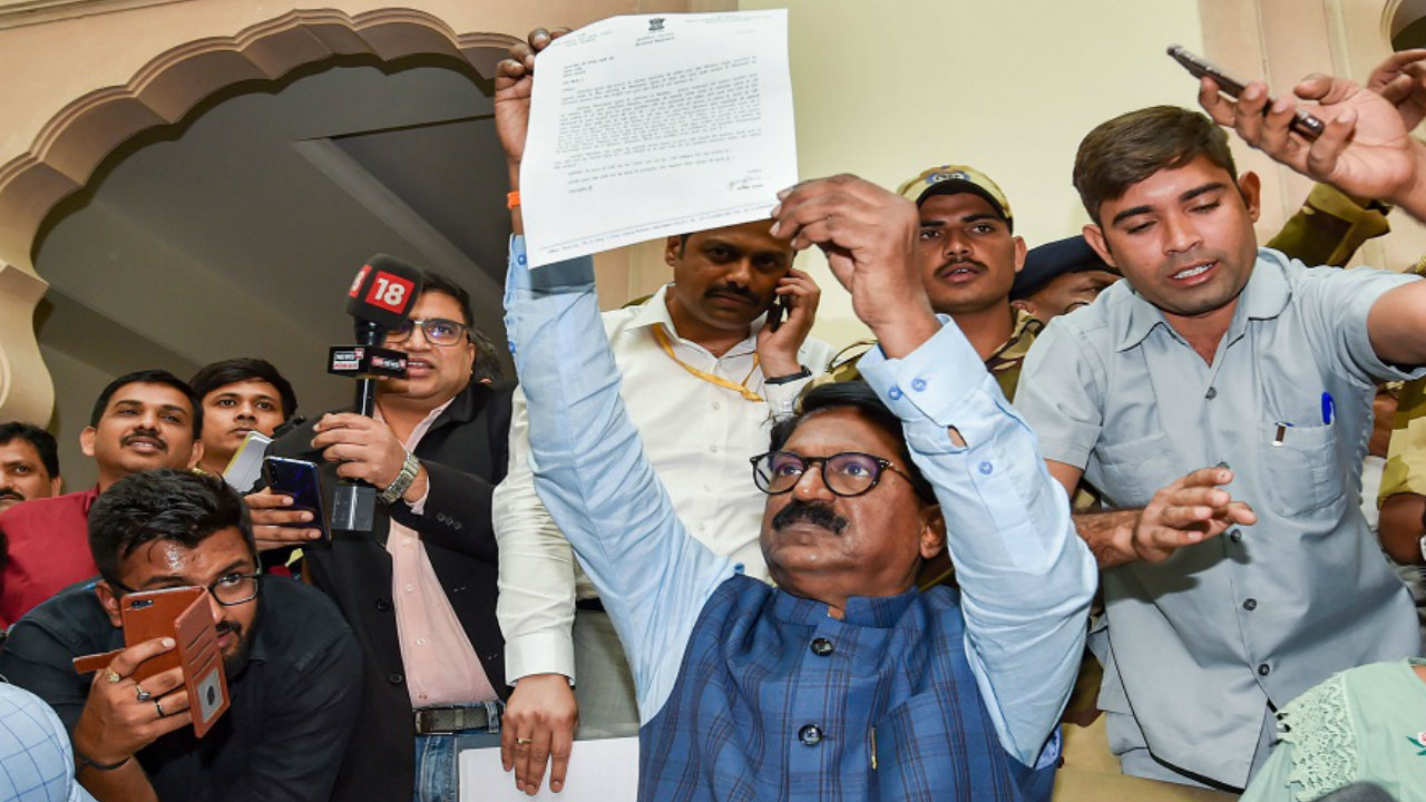 Shiv Sena's Arvind Sawant after he announced his resignation from the Narendra Modi Cabinet. (Image: PTI)