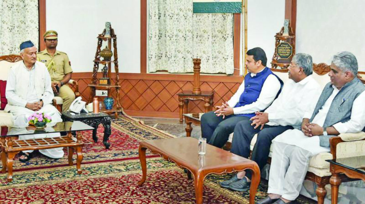 BJP delegation meeting the Governor. (Image: PTI)