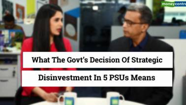 What does disinvestment of 5 PSUs mean