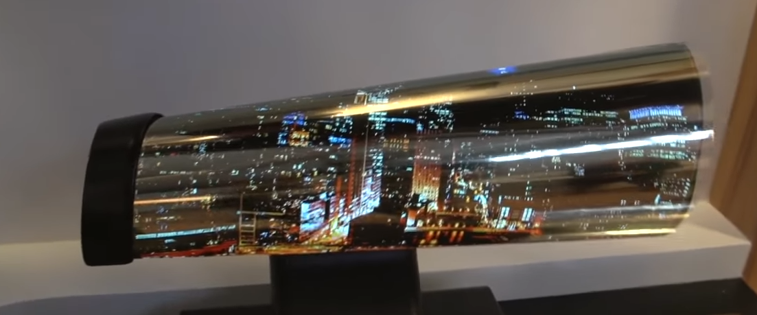 LG's foldable television