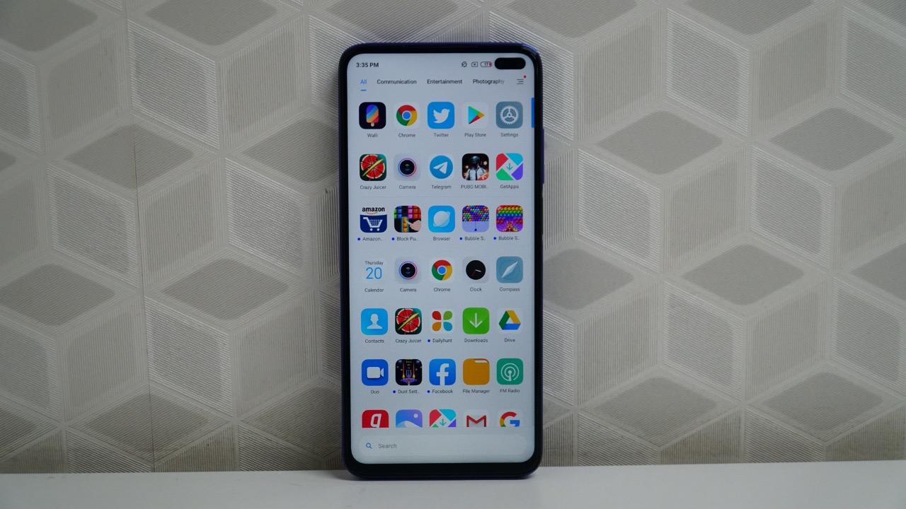Poco X2 screen UI